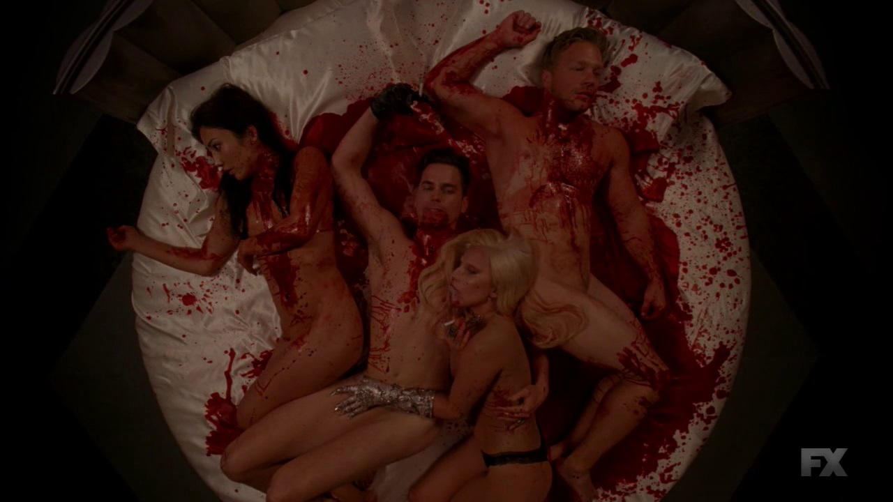 Lady Gaga topless screenshots American horror story (3)